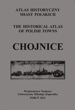 Chojnice. Atlas historyczny miast polskich, t. I: Prusy Królewskie i Warmia, z. 7 - okładka