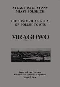 Mrągowo. Atlas historyczny miast polskich, t. III: Mazury, z. 3 - okładka